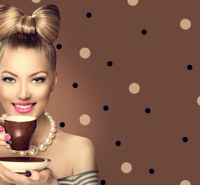 kávés arcpakolás